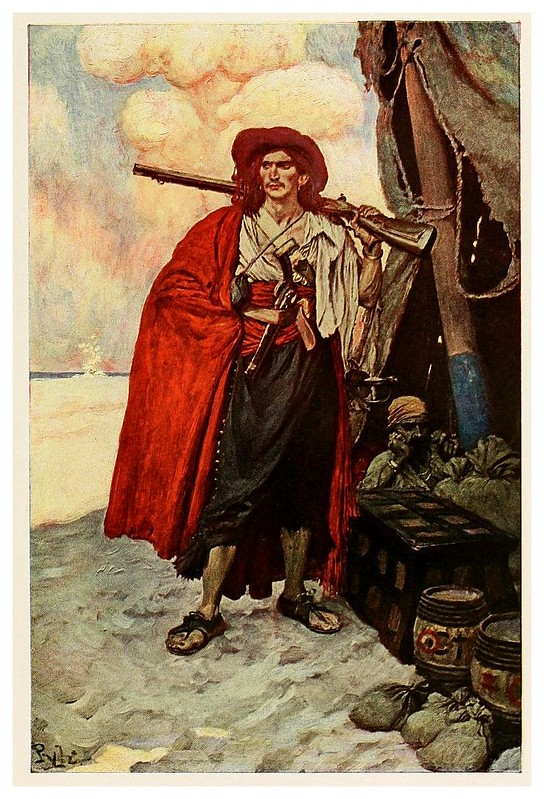 008-Tipo pintoresco de bucanero- Howard Pyle's book of pirates..1921