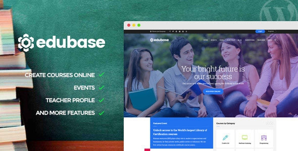 Edubase v1.4.1 - Course, Learning, Event WordPress Theme