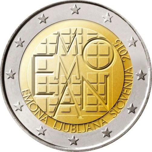 2 euro 2015 Slovinsko cc.BU mesto Emona