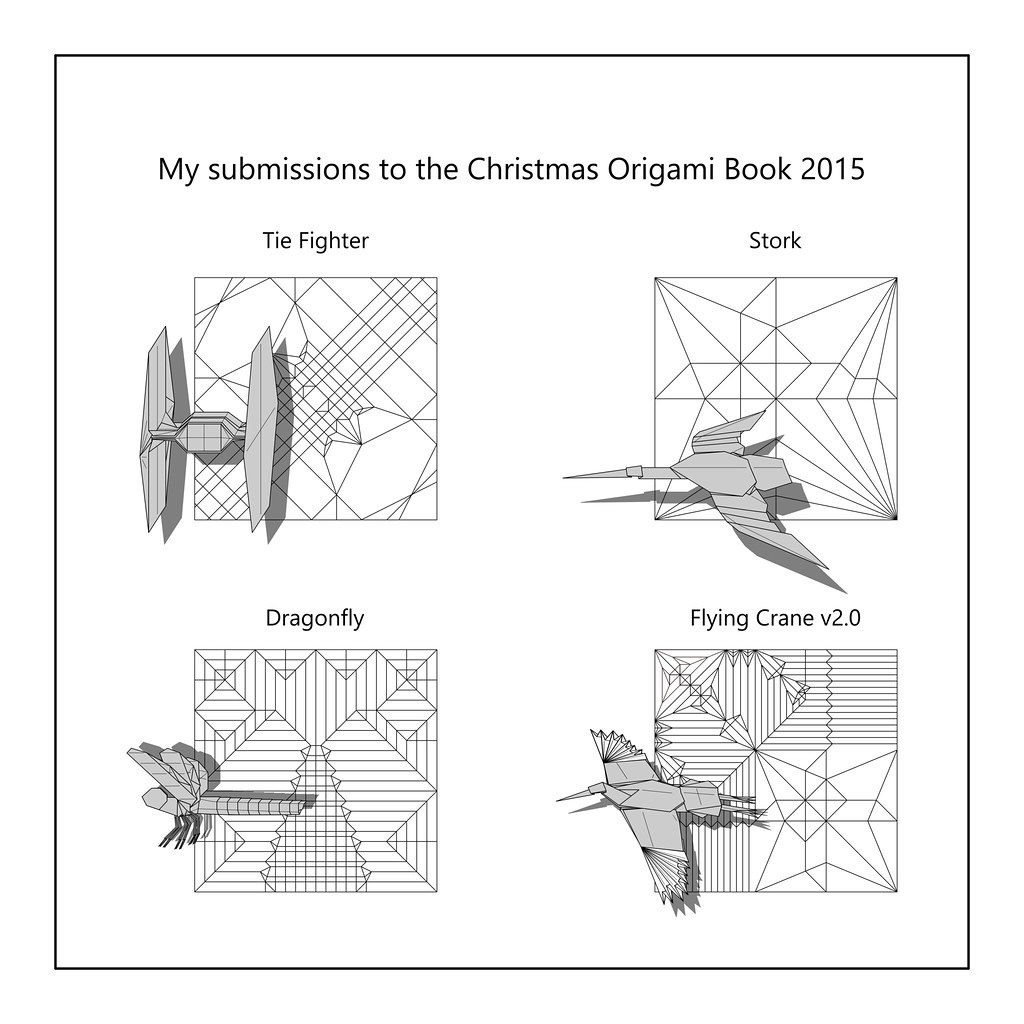 diagrams to be published in christmas origami book 2015