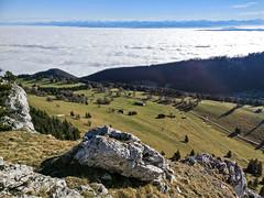 Aiguilles de Baulmes: a sea of clouds between the Jura and the Alps