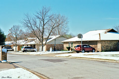 Neighborhood on the Day after Snowstorm, North Richland Hills