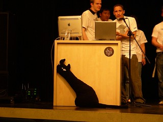 TYPOBerlin 2006: cat on stage