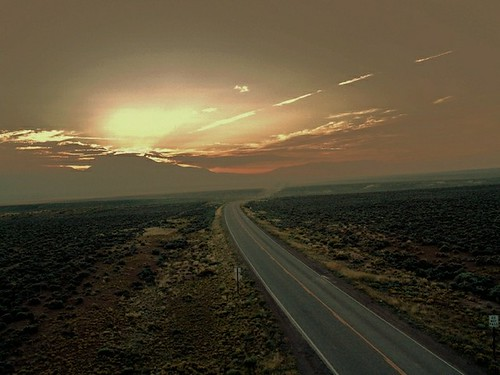 Taos Road, New Mexico Sunrise