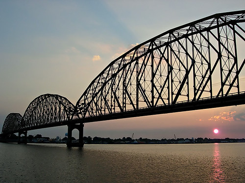 Long-Allen Bridge at Sunset