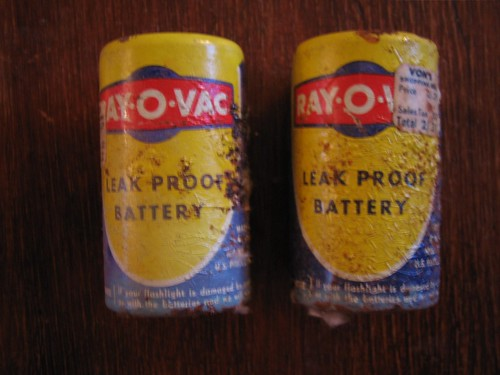 Old Ray-O-Vac Batteries