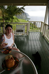 spaghetti dinner at the waipio valley cliff house   …