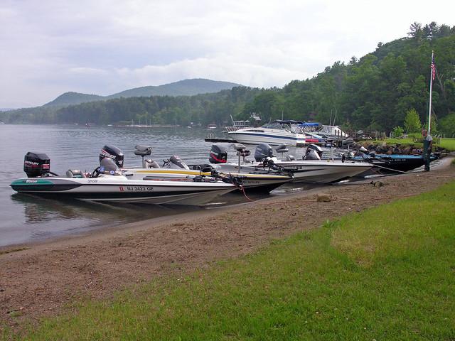 Bass fishing boats near shore flickr photo sharing for Bass fishing from shore