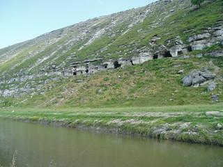 Image of Orheiul Vechi near Cocieri. nature river geotagged hiking caves monastery moldova orheiulvechi geo:lat=4730165 geo:lon=2897965