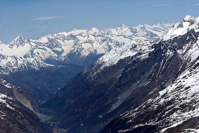 Zermatt seen from the Klein Matterhorn