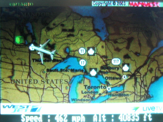 live flight map flight from toronto to vancouver by. Black Bedroom Furniture Sets. Home Design Ideas