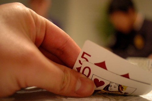 Cliche photo of a bad poker hand