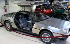 race car, automobile, vehicle, performance car, delorean dmc-12, auto show, classic car, land vehicle, sports car,