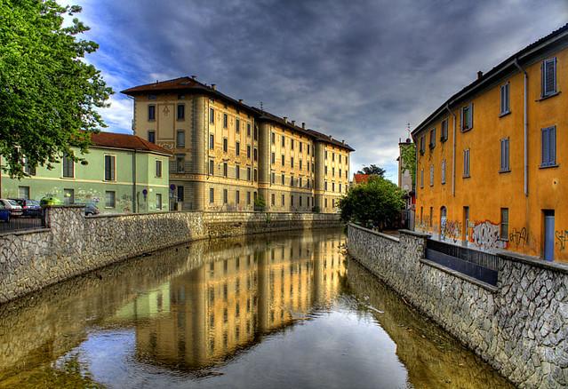 Lambro river in Monza