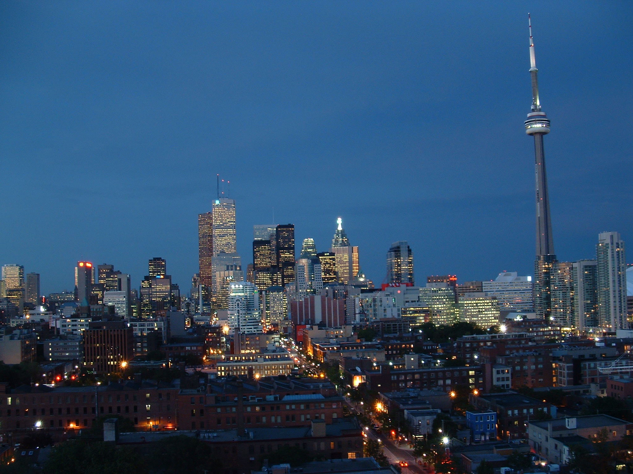 Toronto Evening Skyline | The skyline of Downtown Toronto ta ...