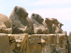 Bulls in stone
