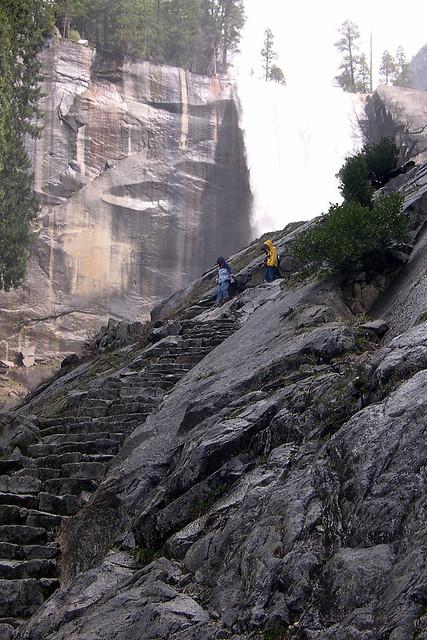 The climb to Vernal Falls