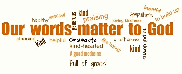 a word cloud with kind, caring words