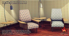 Trompe Loeil - Rhonda Chair and Table Pack for FaMESHed September 2015
