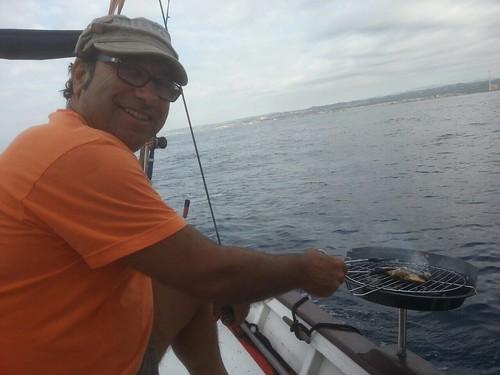 Primer dia del viatge frustrat: cuinant el peix