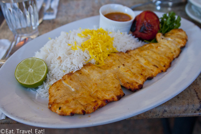 Javan Restaurant- Los Angeles (Sawtelle), CA: Chicken Barg Kebab