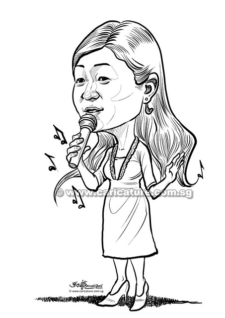 潘盈 digital caricature for Mediacorp TV Singapore Pte Ltd (watermarked)