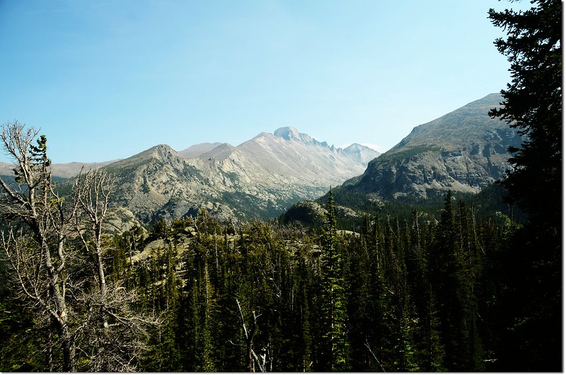 Overlooking Longs Peak from Lake Haiyaha trail 1