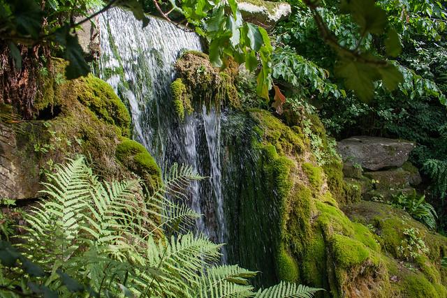 Waterfall in the sunken gardens at Hampton Court