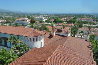 Santa Barbara - Santa Barbara Courthouse ocean view