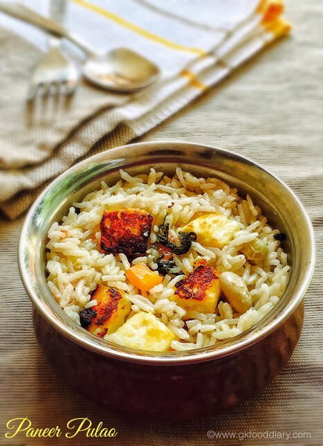Paneer Pulao for baby & toddlers
