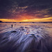 Fisherman at Porthtowan Beach by Glenn 07