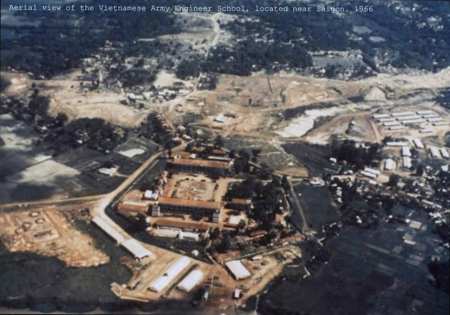 BINH DUONG 1966 - Aerial view of ARVN Engineer School - Trường Công Binh QLVNCH