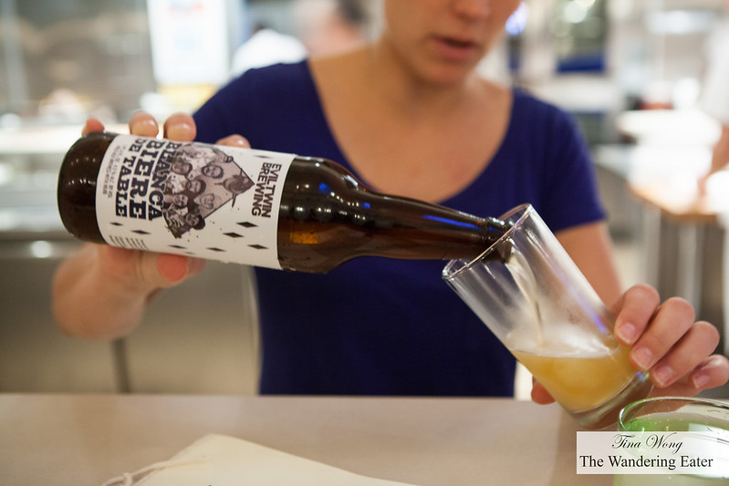 Welcoming beer of the restaurant and Evil Twin Brewing collaboration beer