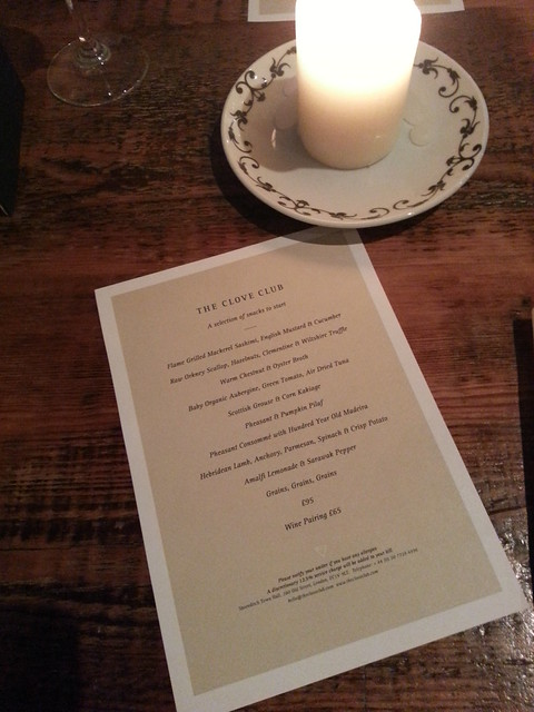 Extended Tasting Menu - The Clove Club