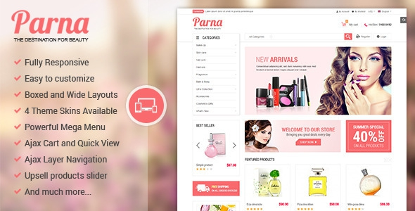ThemeForest Parna v1.0.4 - Responsive Multi-purpose Magento Theme