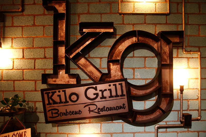 Kilo Grill Barbecue Restaurant Sign