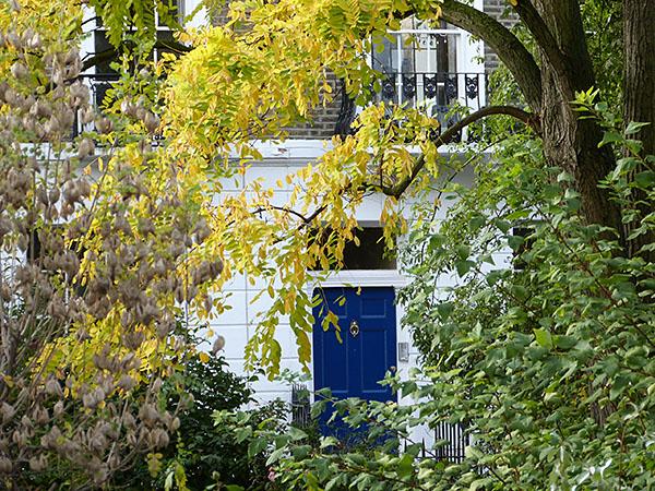 porte bleue sur markham square