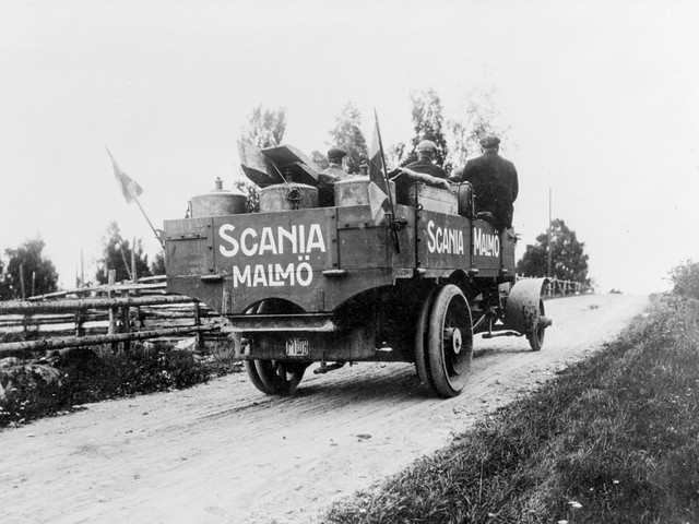 Грузовик Scania-Vabis Type E. 1909 год