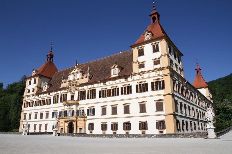 Graz, Austria - May 9, 2015: View of the Eggenberg Castle in Graz, Austria
