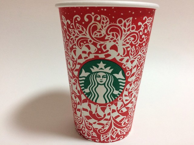 Starbucks Japan スターバックス red cup Candy Canes (designed by customer in Seattle, WA USA)