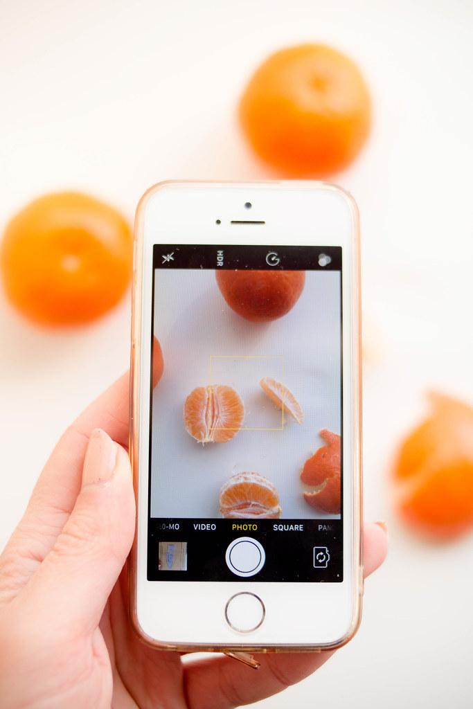 Smartphone-Fotografie: Mandarinen mit dem iPhone fotografiert