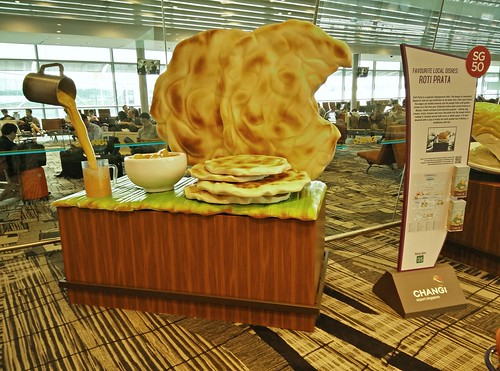 A Giant Roti Prata at Changi T3
