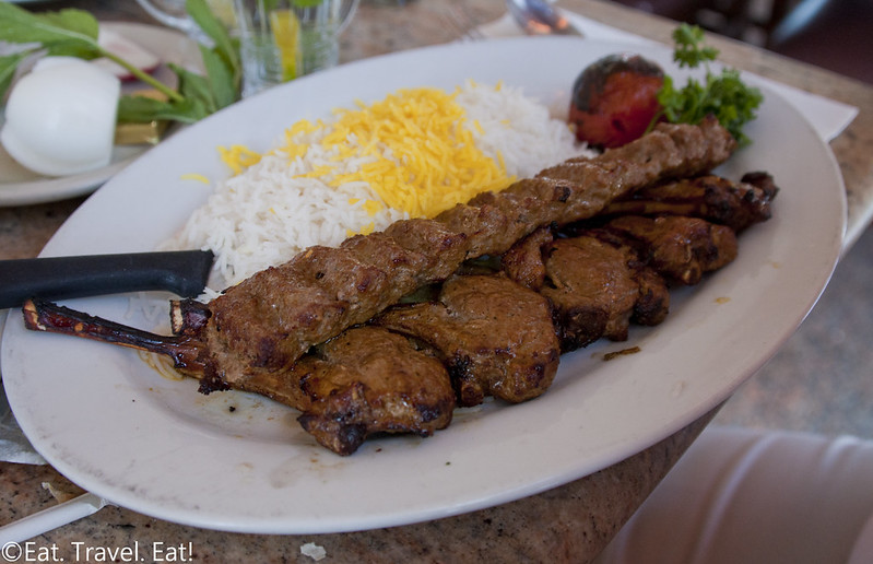 Javan Restaurant- Los Angeles (Sawtelle), CA: Rack of Lamb Kabob / Koobideh Combination