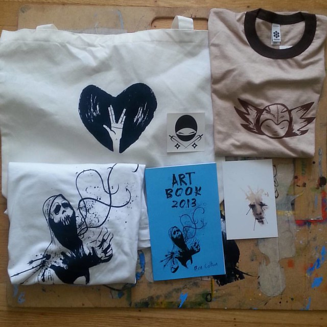 I will be a cartoonist in residency at #cartoonartmuseumsf check them out on Facebook for details our my blog bencollison.com i will be raffling off #tshirts #stickers #totebag #postcards #zine #artbook