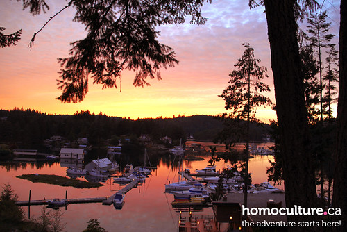 HomoCulture.ca posted a photo:The sun sets over the harbour at Painted Boat Resort on the Sunshine Coast.
