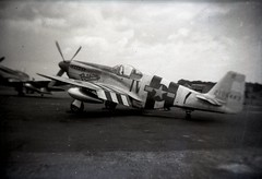 aviation, military aircraft, airplane, propeller driven aircraft, wing, vehicle, north american p-51 mustang, monochrome photography, monochrome, focke-wulf fw 190, black-and-white,