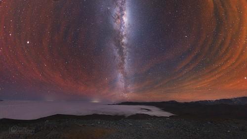 VCSE - Mai kép - Tejút és az éjszakai légkörfény