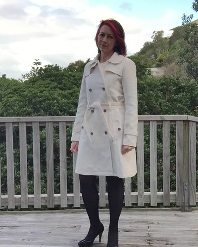 Winter White Trench