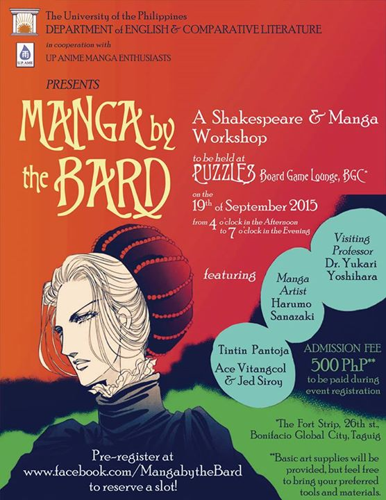 UP Diliman Department of English and Comparative Literative Presents: Manga By The Bard