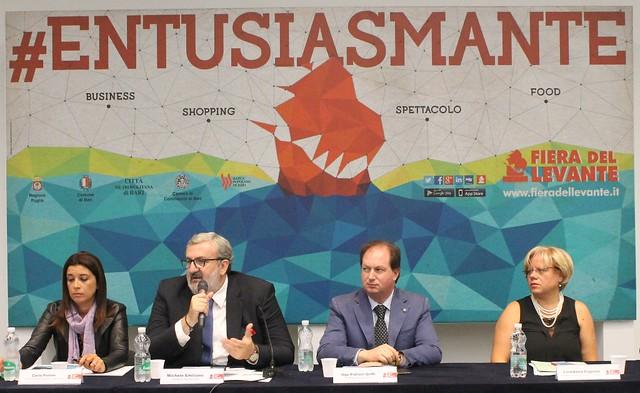 Rutigliano-Emiliano e il presidente Patroni-Griffi durante la conferenza stampa